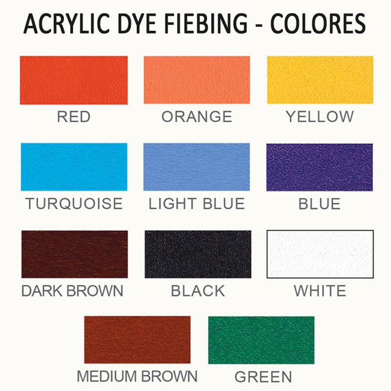 Acrylic Dye - carta colores