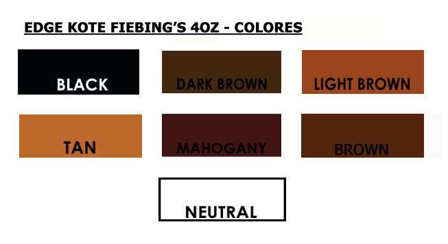 Edge Kote Fiebings Color Chart - Carta de colores