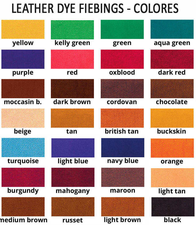 Leather Dye Fiebings - Colores