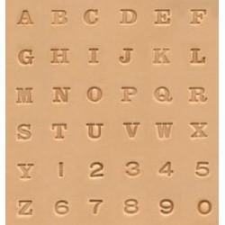 """Alfabeto con números de 1/4"""" - 6,5mm"""
