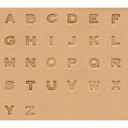 """Alfabeto de 1/4"""" -6,5mm"""
