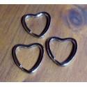 Anillas llavero planas corazón 25-30mm