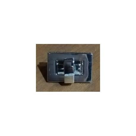 Cierre Torniquete rectangular pequeño níquel