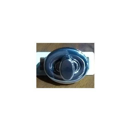 Cierre Torniquete ovalado nr.2 níquel
