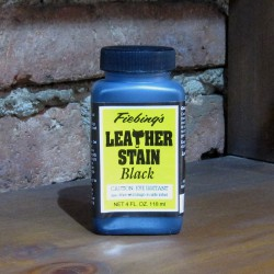 Leather Stain 4oz black / negro