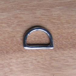 Piquete medialuna acero inox 25mm