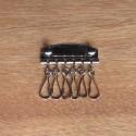 Pieza llavero 6 mosquetones - níquel