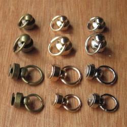 Remache tornillo con anilla - diferentes tamaños y colores