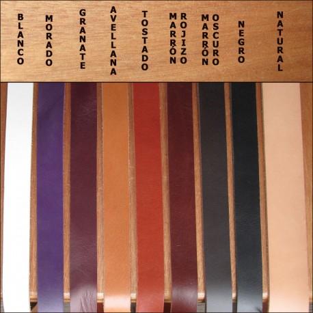 Tiras de cuero de 1cm (2,5mm grosor) - varios colores