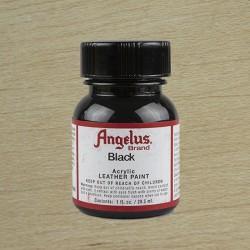 Pintura Acrílica Angelus 1oz - 29.5ml Negro / Black - brillo