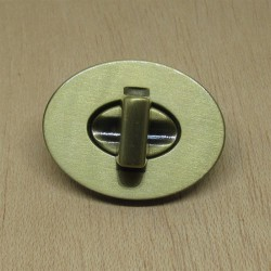 Cierre Torniquete ovalado nr.3 - oro viejo
