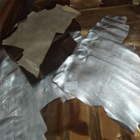 Retal piel colores oro y plata nr.11