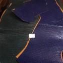 Retal piel de grabado de coco azul y verde nr.13